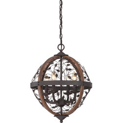 Fancy Rustic Chandeliers by Quoizel