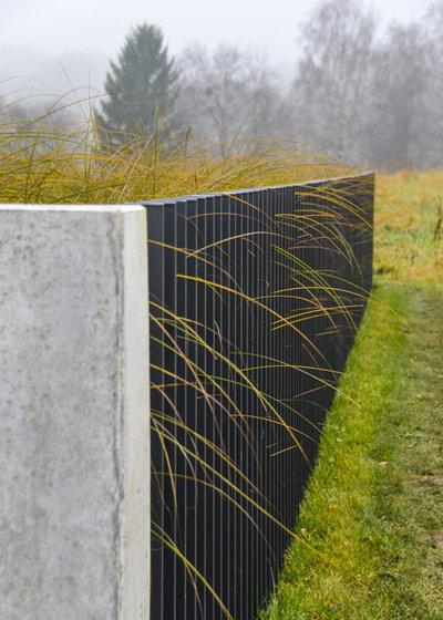 gartenzaun reloaded: drei moderne stelenzäune, die coole grenzen, Garten ideen