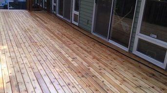 Decks installation, repair and staining