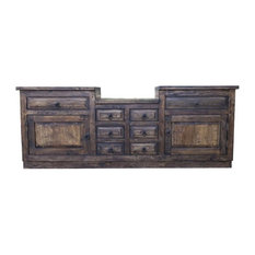 """Rustic Bathroom Vanity 937881, 96""""x22""""x36, Left and Right Drawers False"""