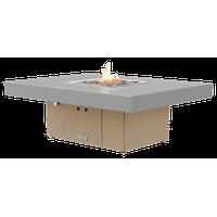 Rectangular Fire Pit Table, 48x36, Propane, Hilltop Gray, Beige