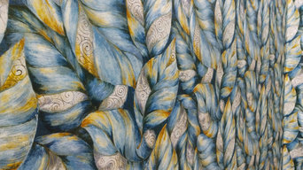 Imported Natural Leaf Wallpaper from Bismi Wallpapers & Interiors