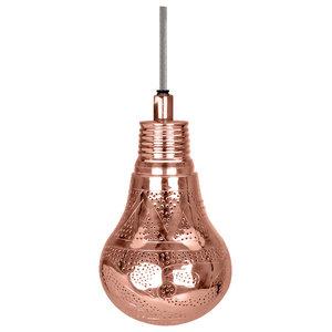 Handmade Lantern Pendant, Bright Copper, Small