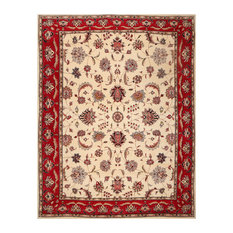 Ivory Red Color Persian Rug, 8'x10'6""
