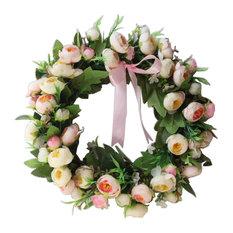 Artificial Wreath Hanging Floral Garland Door Wreath WeddingDecor #01