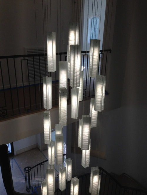 Modern Chandelier For Two Story Foyer : Contemporary foyer lighting modern entry chandelier for