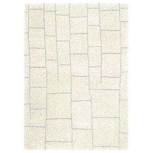 Logan LG04 Tile Rug, Ivory and Grey, 200x290 cm