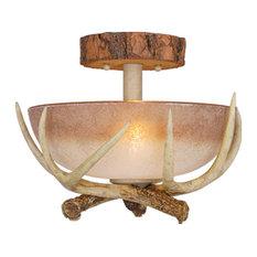 Vaxcel Lodge 12 Semi Flush Mount Light Ceiling Lighting