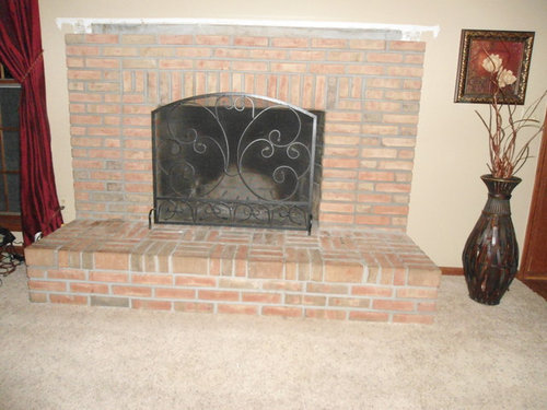 Fireplace Redesign Can I Remove The, Removing Raised Brick Fireplace Hearth