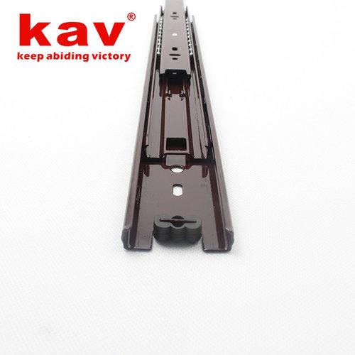 kav brown soft close ball bearing drawer slides[full extension drawer slides]