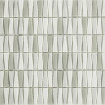 Rocky Point Tile Co - Vetro D'Terra Carrara Bottle Shaped Glass Mosaic Tiles, 1 Sq Ft - This bottle shaped glass mosaic tile is unique like never before. This tile will add an element of dimension and originality to any project. The color scheme is a mix of white, dark grey, and light grey. The glass texture on these tiles resembles beach glass that's been smoothed down by sand.