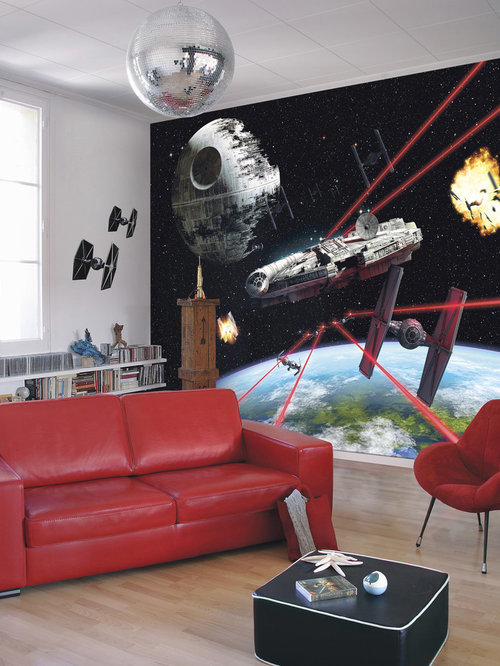 Red living room design ideas remodels photos with for Multi color living room ideas