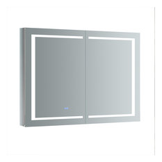 "Spazio 48""x36"" Bathroom Medicine Cabinet With LED Lighting and Defogger"