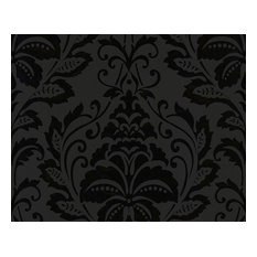 Non-Woven Wallpaper For Accent Wall - 255426 Black and White Wallpaper, Roll