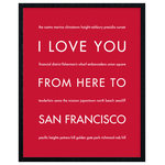 """HopSkipJumpPaper - San Francisco California State Travel Art Print, Red, 16x20"""" - Celebrate your love for your favorite city: San Francisco!"""