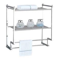 Organize It All - Metro Wall-Mount Rack - Bathroom Shelves