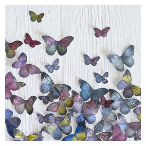 """""""Butterfly Random"""" Printed Canvas by Howard Shooter, 40x40 cm"""