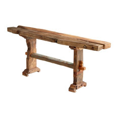 Wembley Rustic Reclaimed Wood Console Table