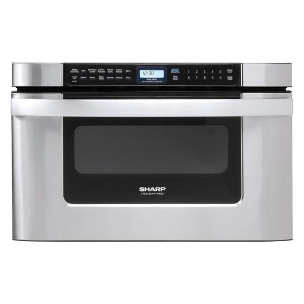 """Sharp 24"""" Built-in Microwave Drawer Oven in Stainless Steel"""