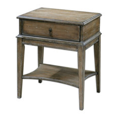 Hanford Weathered Accent Table By Designer Carolyn Kinder
