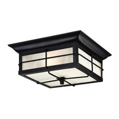 Westinghouse  Orwell Two Light Outdoor Flush Fixture, Textured Black