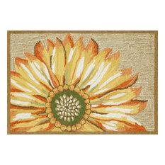 """Frontporch Sunflower Mat, Yellow, 20""""x30"""""""