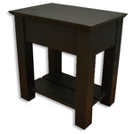 Stealth Furniture - Secret Compartment Nightstand, Shaker, Black Oak, Without Drawer Handle - This beautiful hidden compartment nightstand is made in Indiana's heartland by skilled Amish hands. It features a slide out top with a magnetic lock that reveals it's secret compartment (the lock can be disabled for faster access). You can count on a high quality finish with simple lines that will compliment most styles and tastes.