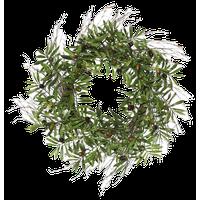 "Vickerman 24"" Artificial Green Olive Leaf Wreath"