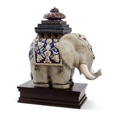 Lladro Siamese Elephant Figurine