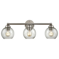 Astoria 3 Light Bathroom Vanity Light in Brushed Nickel