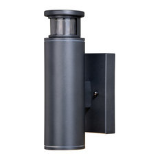 """Chiasso Dualux 4.5"""" LED Outdoor Wall Light, Textured Black"""