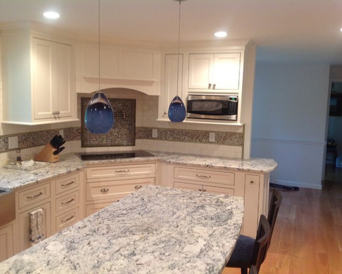 Inset Cabinet Kitchen With Corner Range Top