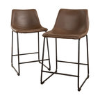Kaylee Vintage Brown Bar Stool