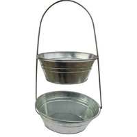 """18.5"""" Galvanized Two-Tier Container Set"""