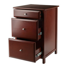 Winsome - Winsome Wood Transitional Walnut Composite Wood File Cabinet - Filing Cabinets