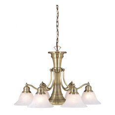 Vaxcel Lighting CH30307A Standford Downlight Chandelier, Antique Brass