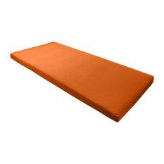 """Sunbrella Bench Seat Cushion, Tuscan Orange, 40""""x18.5"""""""