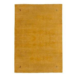 Gabbeh Wool Rug, Yellow, 160x230 cm