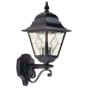 Traditional Uplight Wall Lantern, Black