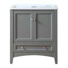 "30.5"" Laundry Single Sink Vanity, Gray"