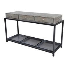 Evan Box Metal Console Table