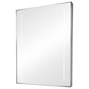 Bathroom Mirror With LED Side Lights, With Shaver Socket