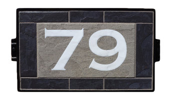 Light Pizarra House Number Sign