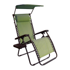 Bliss Hammocks Gravity Free Lounger w/ Canopy, Head Rest, Armrest and Side Table