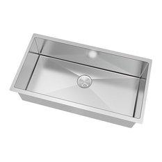 Transolid - Transolid Diamond 16 Gauge Super Single Undermount Stainless Steel Sink - Kitchen Sinks