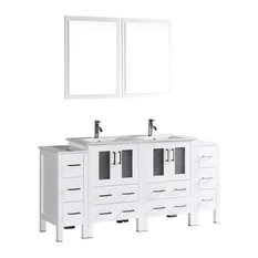 "72"" Bosconi Double Vanity, White"