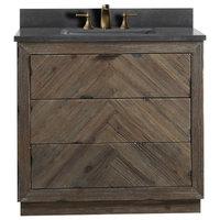 """Legion Furniture Single Sink Vanity, Rustic Brown, 36"""""""