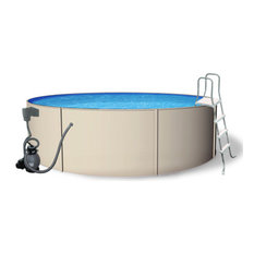 Blue Wave Round Blue Laggon Pool Package - 12 ft x 48 Inch