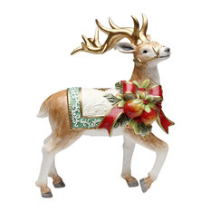Cosmos Gifts Corp. - Victorian Harvest Reindeer Figurine - Holiday Accents and Figurines