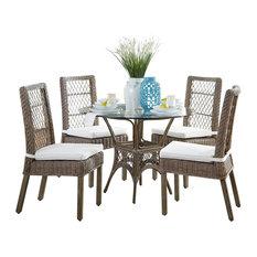 Panama Jack Seaside Dining Set With Cushions, Sunbrella Cast Silver